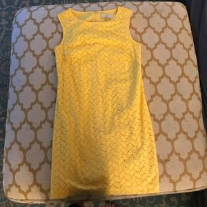 Bright and light loft size 4 yellow dress