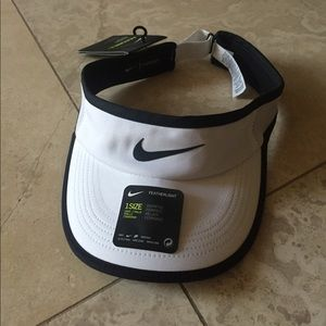 BRAND NEW NIKE VISOR EITH MIKE LOGO FRONT & BACK