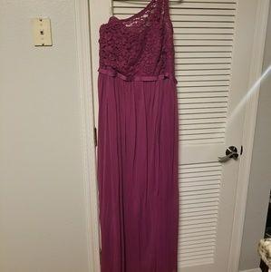 Davids Bridal One Shoulder Dress