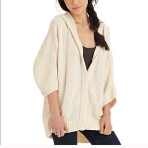 Free people oversized hooded cable knit cardigan