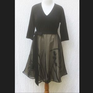 New Eshakti Fit & Flare Tulle Dress 20W