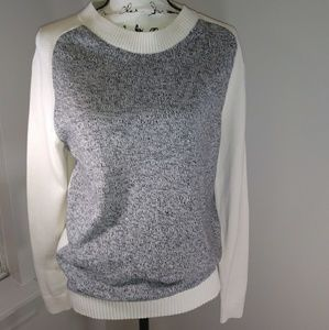 Gap gray color block sweater