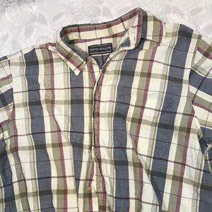David Taylor XL Striped Mens Dress Shirt