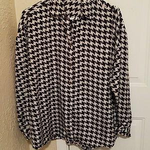 Express silk dress shirt