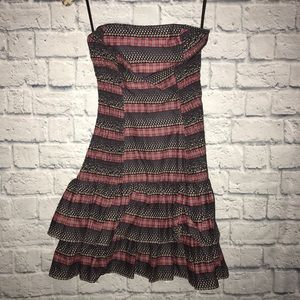 French Connection strapless ruffle dress