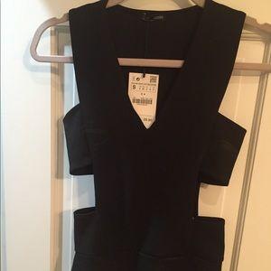 Zara sexy black bodysuit with cutouts