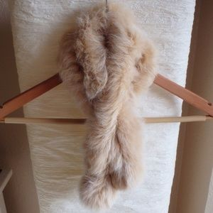 Genuine Fur Pompom Neck Warmer
