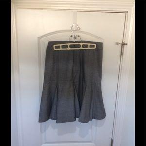 Grey pleated pencil skirt