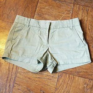 "EUC J. Crew 3"" Chino Shorts size 4 VEUC"