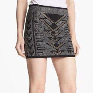 Foreve 21 Studded Out Mini Skirt