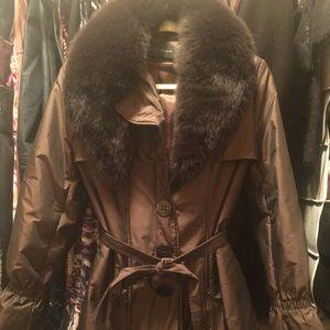 Tahari knee length coat