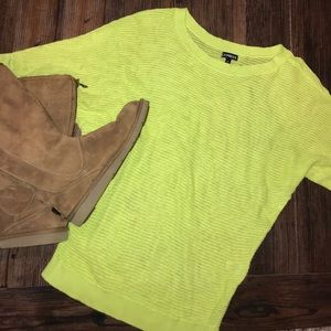 Express knitted neon yellow sweater