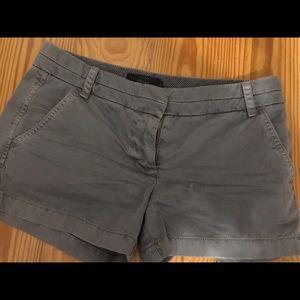 "VEUC J. Crew 3"" Chino Shorts size 4, grey"