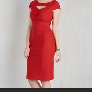 ModCloth size 2 stretch midi sheath dress