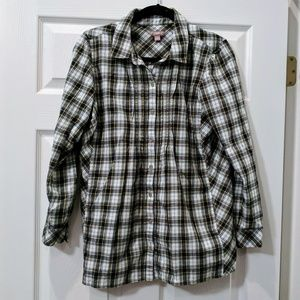J Jill flannel button down blouse size Small