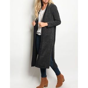 | LUXE CHARCOAL CARDIGAN |