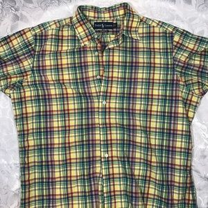 NICE Ralph Lauren Multi Colored Mens Polo Shirt LG