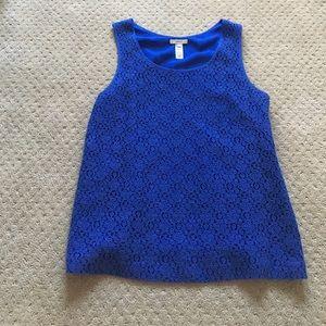 J.Crew blue lace top