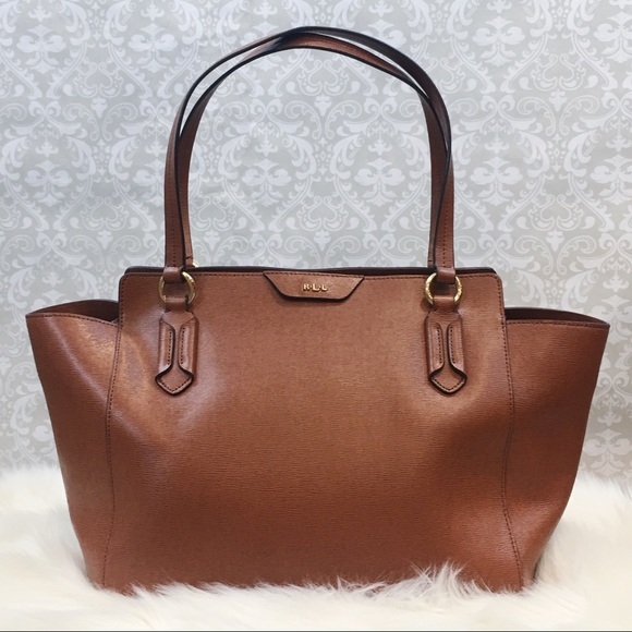 49842a6272 Lauren Ralph Lauren Handbags - Ralph Lauren Leather Tate Modern Shopper  Tote Bag