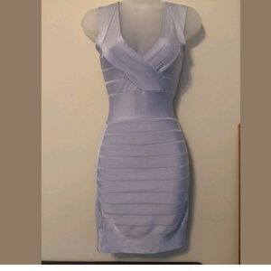 French Connection light blue bodycon dress XS