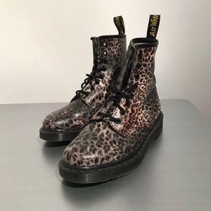 Doc Martens Leopard Print Lace Boots Ladies sz 7