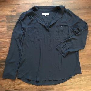 Loft dark navy float shirt