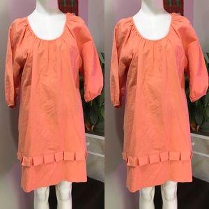 CHLOE SEE BY CHLOE L 8 CORAL ORANGY RUFFLE DRESS