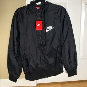 NWT Mens Nike Black Athletic Zipper Up Jacket M