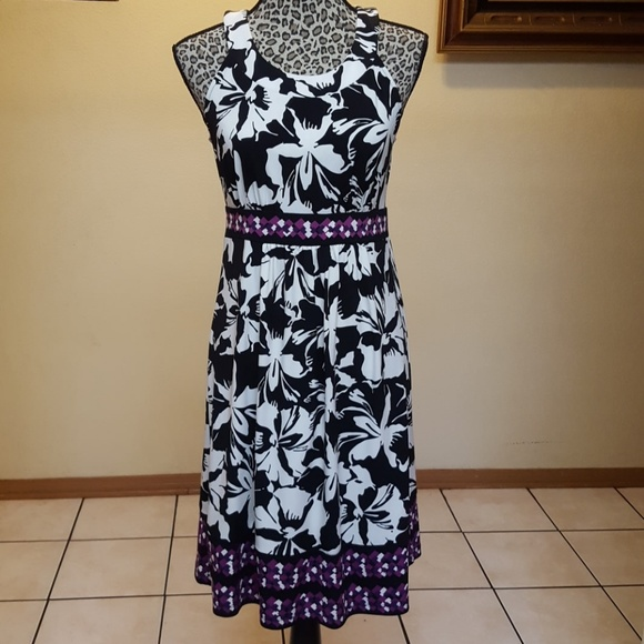 Apt 9 Black And White Purple Dress