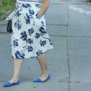 NWT Zara Kona Hawaiian Print Midi Skirt