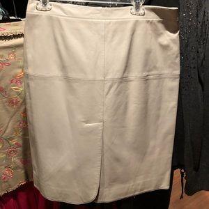 Armani Collezioni leather skirt.  NWT pen mark