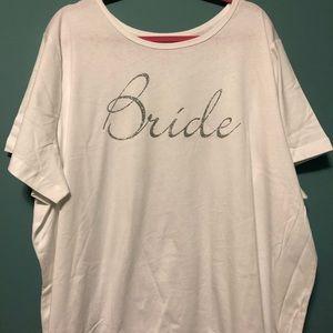 Brand New PLUS SIZE BRIDE T-shirt!! Size 3x 30/32