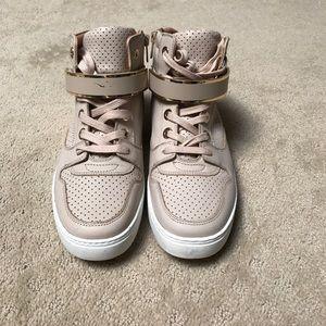 Aldo soft pink HighTops with Velcro strap