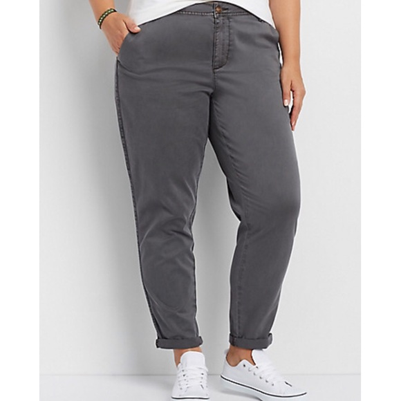 be30f339c44e0 NWT Lane Bryant gray boyfriend chino SZ 20