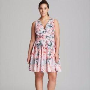 BB DAKOTA Gelsey Printed Dress 18 ~ Begonia Floral