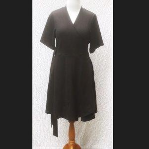 New Eshakti Fit & Flare Wrap Dress 18W