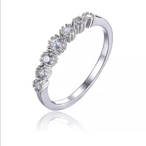 Jewelry - Sterling Silver CZ Band Ring