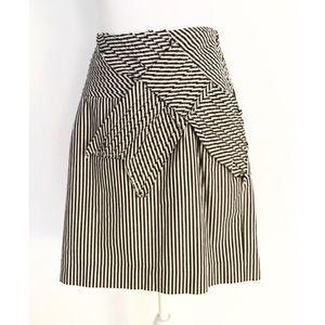 Taikonhu Yellow Cat Academia Striped Bow Skirt