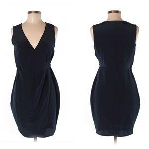 ASOS Dark Blue cocktail wrap dress