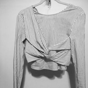 ZARA striped crop top