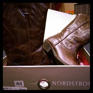 Nordstrom chocolate girls cowboy boots