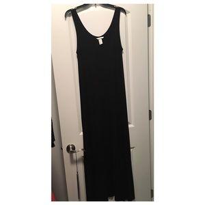 BLACK MAXI TSHIRT DRESS