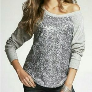 Sequin Raglan Sweatshirt