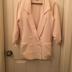 Forever 21 Ivory Double breasted blazer