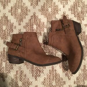 chestnut ankle booties