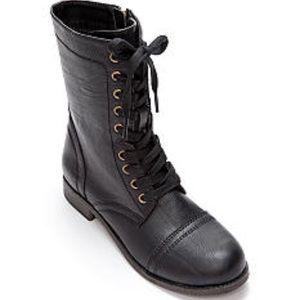 Rampage Jiminy Black Zip Combat Boots Size 9.5