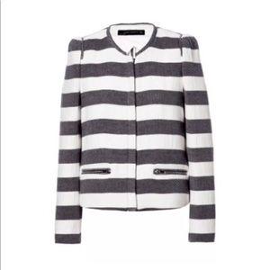 Zara Striped Nautical Blazer Size XS Cotton