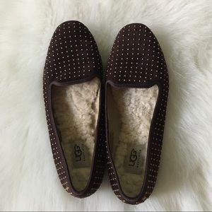 UGG Stud Brown Flats