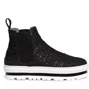 Rare MSGM Guipure Lace Slip On Flatform Sneakers