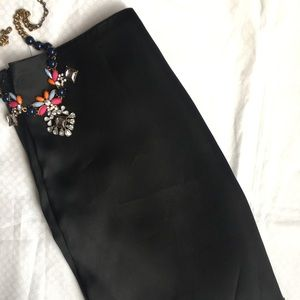 French Connection black silk skirt